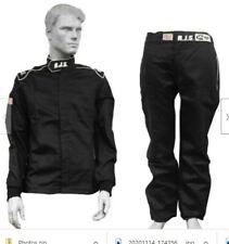 New Rjs Racing Equipment Elite Fire Suit - Pants/Jacket - Black w/White Men's S
