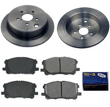 Rear Ceramic Brake Pad Set & Rotor Kit for 2013 Kia Optima EX-LX-SX-SXL