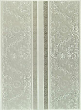 Printed Translucent / Vellum Scrapbook  Paper A/4 Lace White