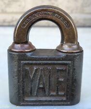 Antique 1890's Yale & Towne Padlock Lock Stamford Conn