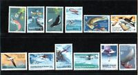 1973 FOOD CHAINS AND EXPLORERS AIRCRAFT SET OF 12 STAMPS MUH