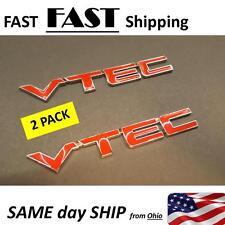 """Red Metal VTEC Letter Sticker Fender Decal Emblem """"vtec"""" B16A4"""