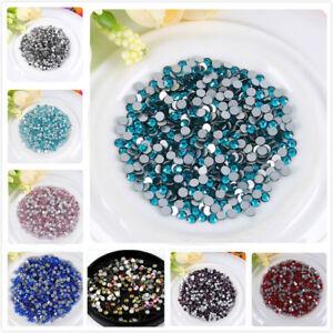 1440pcs Crystal Glass Non HotFix Rhinestones for Nails Nail Art Decoration DIY