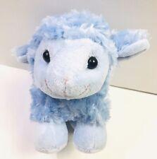 Inter American Products Lamb Sheep Plush Stuffed Animal Swirly Blue Fur  Lovey