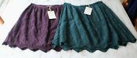 M&S Indigo Sze 8-22 Pure Modal Broderie Anglaise Embroidered Mini Skirt Bnwt £35