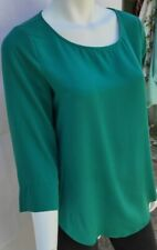 DL Womens Green 3/4 Sleeve Blouse Tunic Blouse  M