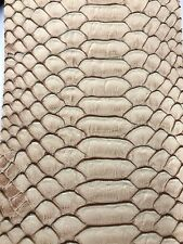 Vinyl Fabric Brown Faux Viper Snake Skin Leather Upholstery-3D Scales-The Yard.