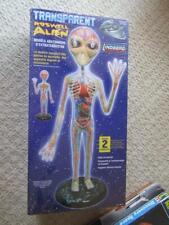 "2007 Transparent Roswell Alien  Anatomy Model Kit 19"" Tall Sealed Box Linbeger 7"
