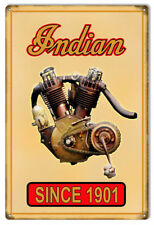 Indian Motorcycle Authorized Dealer Flange Metal Sign 12x18