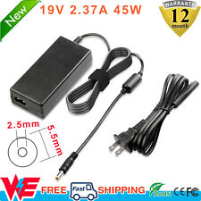 New listing 19V 2.37A Laptop Charger Ac Adapter Power Cord Supply For Toshiba Satellite 45W