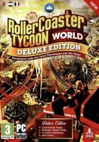 Rollercoaster Tycoon World Deluxe Edition - PC DVD - New Gift Idea