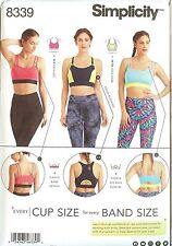 New Simplicity Sewing Pattern 8339 Knit Sports Bra Misses Size 30A to 44G 2017