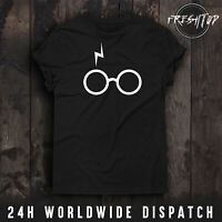 Harry Potter T Shirt Glasses Scar Logo Lord Voldemort Expecto Patronum