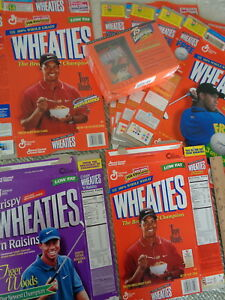WHEATIES - TIGER WOODS (4) BOX STYLES (8) TOTAL - CLASSIC COLLECTIBLE