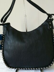 Vershe* Milleni handbag, Shoulder & Cross body bag, stud detail, black, NWT