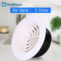 Hon&Guan 3-8in Adjustable Round ABS Air Vent Grille Louver Ventilation Cover NEW
