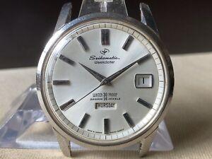 Vintage SEIKO Automatic Watch/ SEIKOMATIC WEEKDATER 6206-8990 26J SS 1964