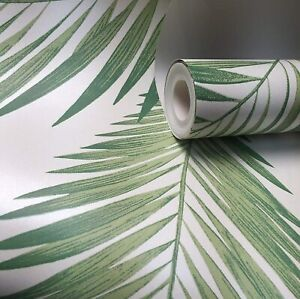 Arthouse Tropical Palm Tree Leaves Jungle Nature Wallpaper - Green 906802