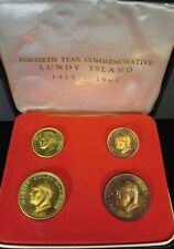 1965 Lundy 4 Piece Proof Coin Set Original Box Holder  ** FREE U.S SHIPPING **