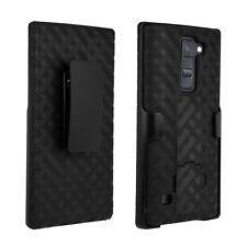 Hybrid Shell Holster Kickstand Phone Case Cover with Belt Clip for LG K8 V 2016