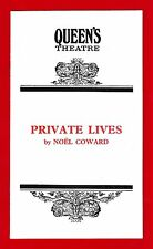 """Maggie Smith """"PRIVATE LIVES"""" Robert Stephens / Noel Coward 1972 London Playbill"""