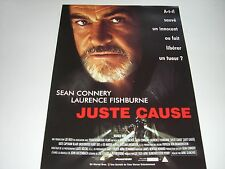 AFFICHE PROMO VIDEO CLUB--JUSTE CAUSE--CONNERY/FISHBURNE/GLIMCHER