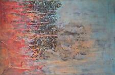 Abstrakt-modernes Acryl Gemälde Malerei mit plastischen Elementen auf Leinwand