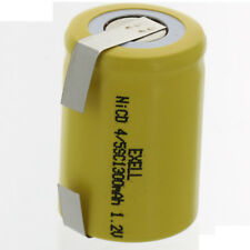 4/5 SubC 1.2V 1300mAh  Rechargeable Battery w/Tabs For Razor FRS Solar DIY Pack