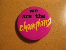 Vintage 1980's Metal Pin Queen We Are the Champions Freddy Mercury Band Music
