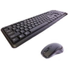 Cordless Keyboard Wireless Mouse Combo 2.4G Long Range USB Nano Receiver