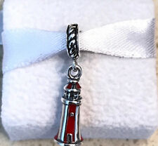 Authentic Pandora Lighthouse Dangle Charm #791137EN42 + Gift Packaging & Pouch