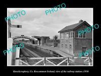 OLD LARGE HISTORIC PHOTO OF KNOCKCROGHERY IRELAND THE RAILWAY STATION c1950