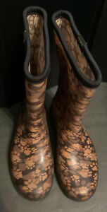 Sloggers Women's Paw Printed Tall Boots Size 9