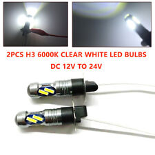 2X H3 LED 12SMD Car 12V-24V Headlight Fog Light Lamp Bulb Conversion  6000K 55W