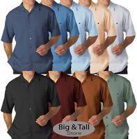 Foxfire Big & Tall Men's Casual Cabana Shirt - Relaxed Fit 3XL - 8XL 2XLT - 6XLT