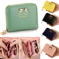 Lady Women Fashion Cute Purse Clutch Wallet Short Small Bag PU Card Holder NC89