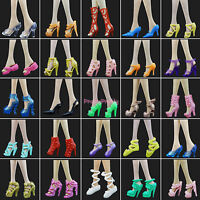 Random 100 Pairs Shoes Heels Sandal Accessories For 11.5 in. 12 in. 1/6 Doll Toy