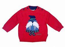 Ted Baker Baby Boy Jumper Sweater Cute Walrus Red Newborn 0-3 Months