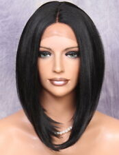 Women Lace Front Wig Straight Fashion Soft Off Black Hair Piece 1B LBY NWT