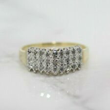 14ct Yellow Gold 0.25ct Diamond Cluster Ring (Size L, US 5 3/4)