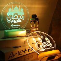 Eid Mubarak Night Light Ramadan LED Mubarak Lights Muslim Islam Table Decor HOT