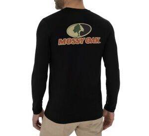 Mossy Oak Men's Insect Repellent Long Sleeve Performance Graphic Fishing Shirt