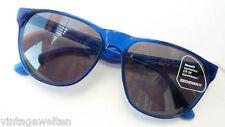 Eschenbach große Kunststoff Sonnenbrille kräftig blau Damen Herren 100% UV neu