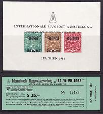 Ö.1968,,IFA-Neudruckblock,,mit Eintrittskarte TOP ! siehe Bild >