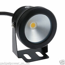 COMPACT 12V SPOTLIGHT POWERFUL 10W LED DURABLE WATERPROOF IP68 SPOT *WARM WHITE*