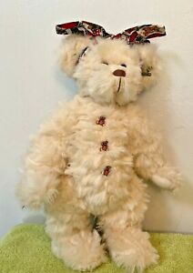 """Annette Funicello Bear Collector Bear Plush Jointed Bear with """"Belly Buttons"""""""