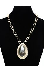 Melinda Maria Womens Gold Chain Stone Necklace 0115