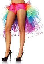 Adult Women Layered Organza Rainbow Bustle Skirt Panties Clubwear