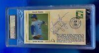 Rollie Fingers HOF-Sparky Lyle Signed Autographs 1985 PSA/DNA Certified Genuine