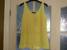 Mint Velvet Yellow Trim Top Size 10 New With Tags RRP £49